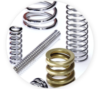 Types of Compression Springs - Barrel Compression Springs - Hourglass Compression Springs